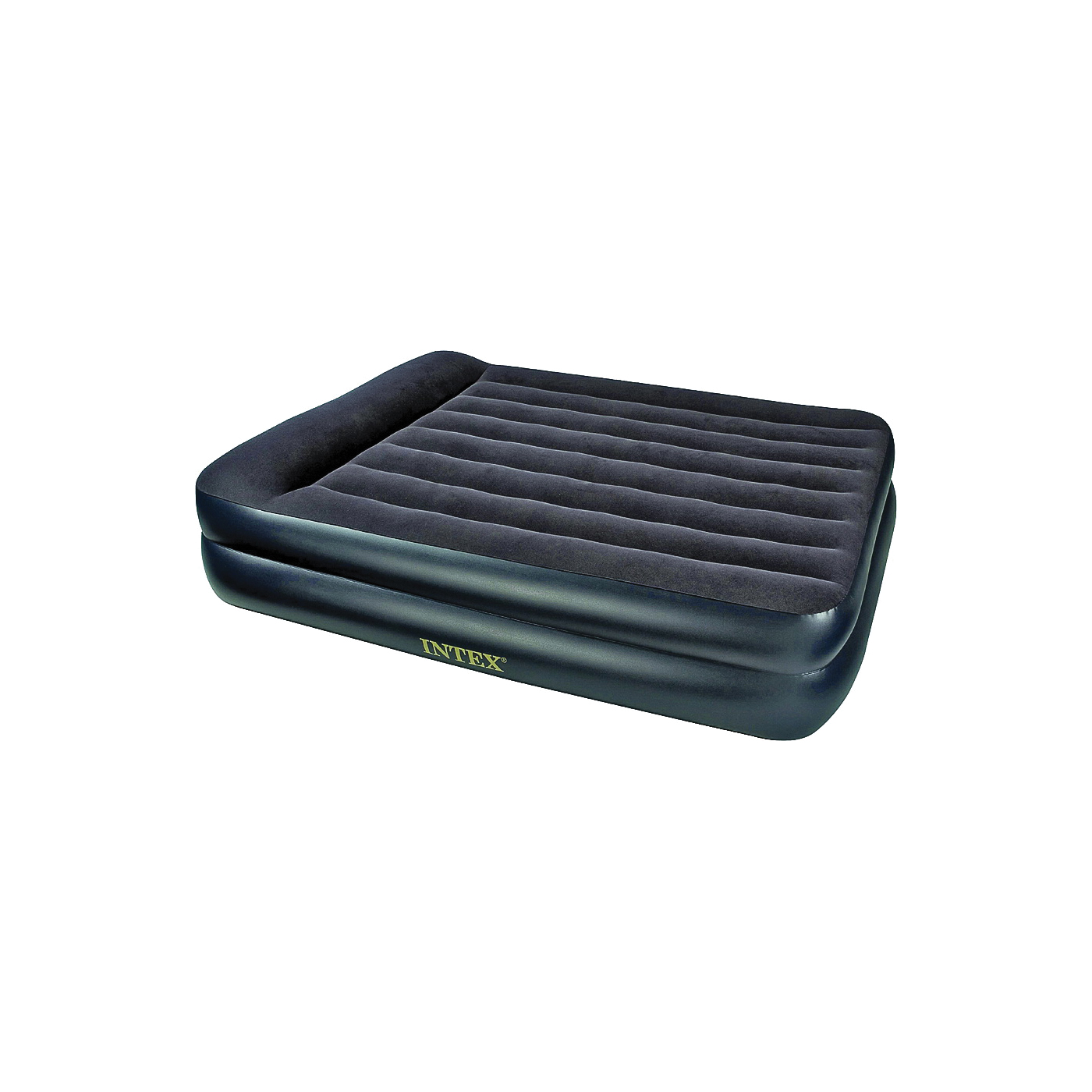 Picture of INTEX Dura-Beam 64423E Pillow Rest Raised Airbed Mattress, 80 in L, 62 in W, Queen, Blue