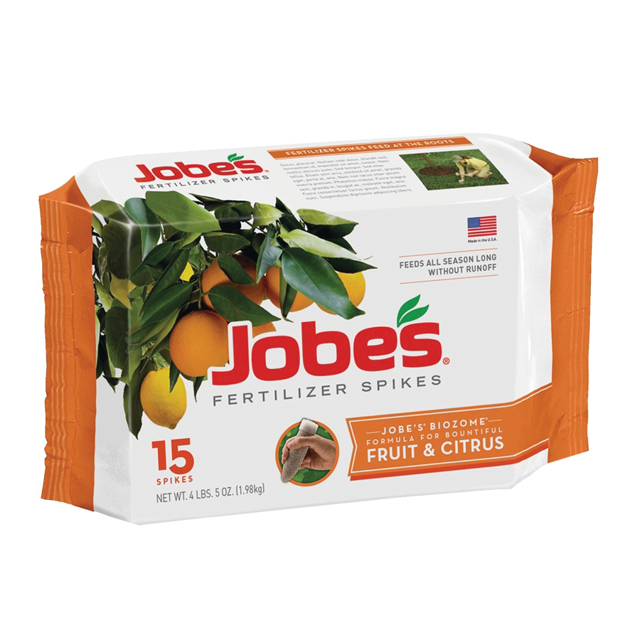 Picture of Jobes 01612 Dry Fertilizer Spike, Spike, Gray/Light Brown, Slight Ammonia