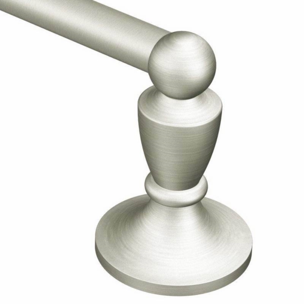 Picture of Moen DN8224BN Towel Bar, 24 in L Rod, Brass, Brushed Nickel, Surface Mounting