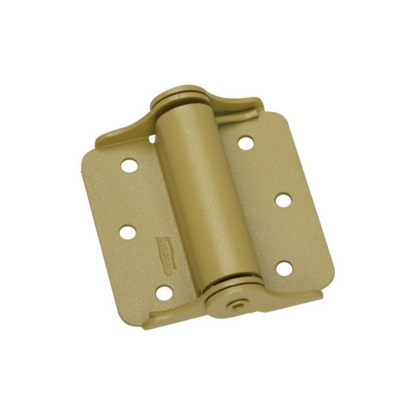 Picture of National Hardware N114-785 Spring Hinge, 0.08 in Thick Frame Leaf, Steel, Baked Enamel, Wall Mounting, 25 lb