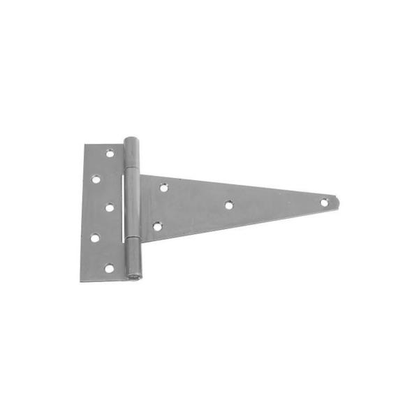 Picture of National Hardware N128-900 T-Hinge, 7.2 in W Frame Leaf, 2-1/4 in H Frame Leaf, Steel, Zinc, Tight Pin, 70 lb