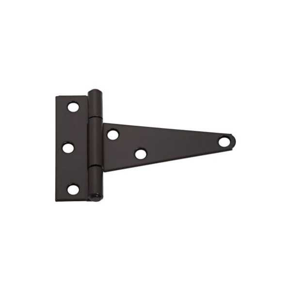 Picture of National Hardware N129-007 T-Hinge, 3.3 in W Frame Leaf, 1.127 in H Frame Leaf, Steel, Tight Pin