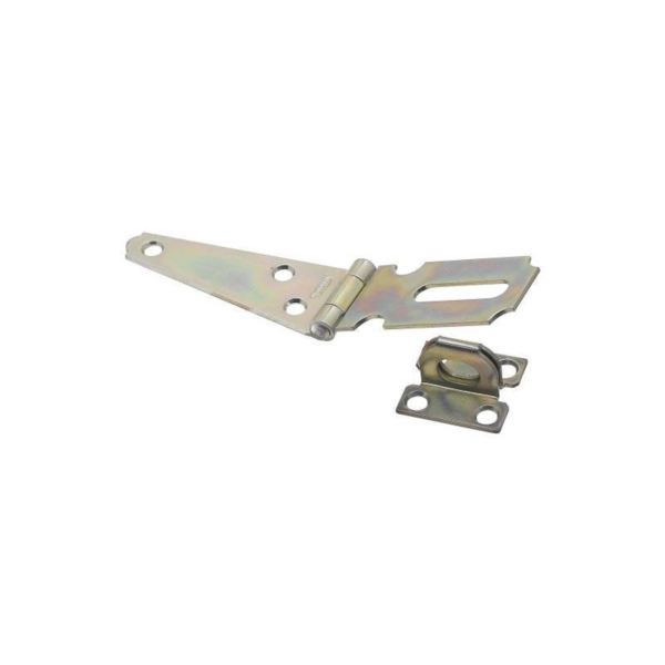 Picture of National Hardware N129-577 Hinge Hasp, 3 in L, 1-5/32 in W, Steel, Zinc, 5/16 in Dia Shackle