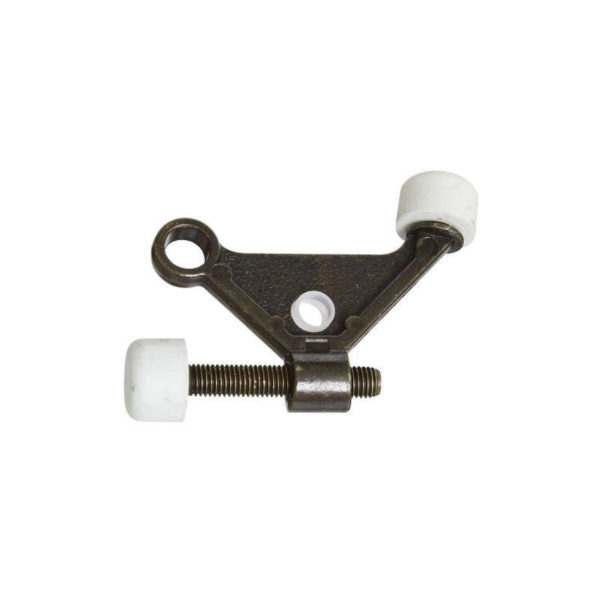 Picture of National Hardware N159-046 Hinge-Pin Door Stop, 1-7/8 in Projection, Die-Cast Zinc, Antique Brass