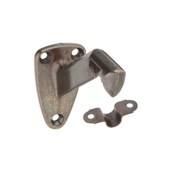 Picture of National Hardware N159-566 Handrail Bracket with Strap, 250 lb, Die-Cast Zinc, Antique Brass