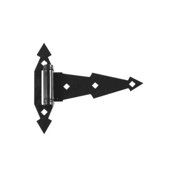 Picture of National Hardware N165-472 T-Hinge, 7 in W Frame Leaf, 7-5/16 in H Frame Leaf, Steel, Tight Pin, 50 lb