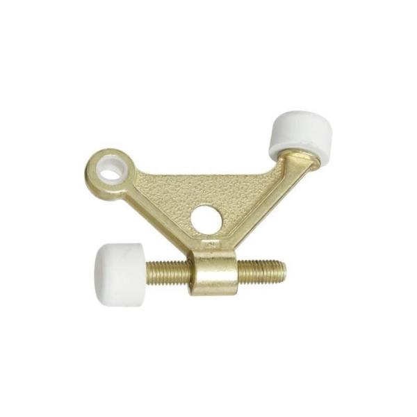Picture of National Hardware N187-682 Hinge-Pin Door Stop, 1-7/8 in Projection, Zinc, Brass