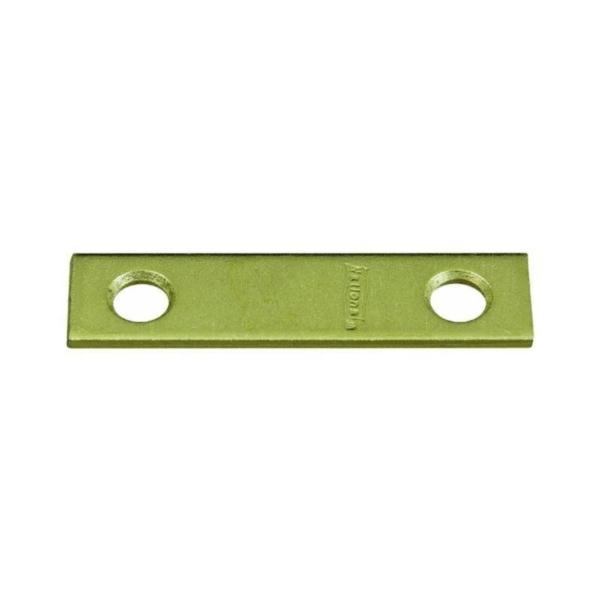 Picture of National Hardware N190-892 Mending Brace, 2 in L, 1/2 in W, 0.07 Gauge, Steel, Brass, Screw Mounting