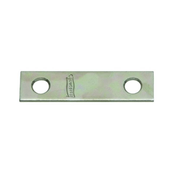 Picture of National Hardware N191-007 Mending Brace, 3 in L, 5/8 in W, 0.08 Gauge, Steel, Brass, Screw Mounting