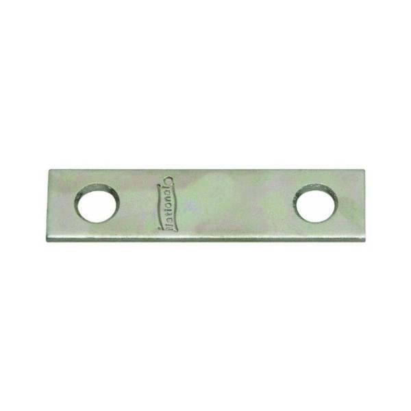 Picture of National Hardware N191-056 Mending Brace, 4 in L, 5/8 in W, 0.08 Gauge, Steel, Brass, Screw Mounting