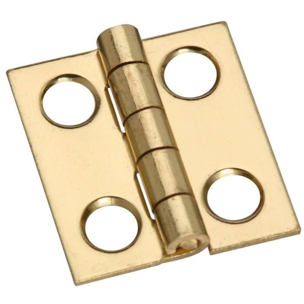 Picture of National Hardware N211-276 Decorative Narrow Hinge, 3/4 in H Door Leaf, 0.02 in Thick Door Leaf, Brass, Solid Brass