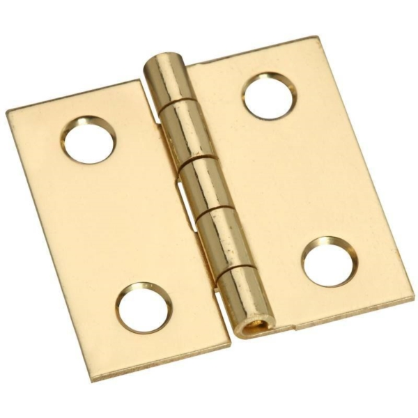 Picture of National Hardware N211-334 Decorative Broad Hinge, 1 in H Door Leaf, 0.02 in Thick Door Leaf, Brass, Solid Brass