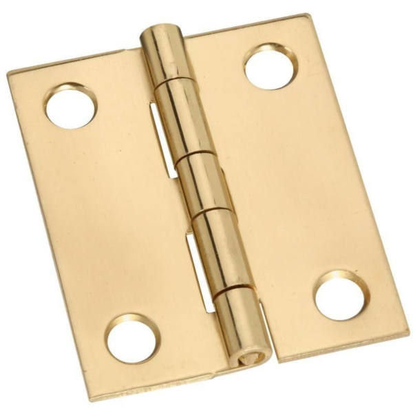 Picture of National Hardware N211-359 Decorative Broad Hinge, 1-1/2 in H Door Leaf, 0.04 in Thick Door Leaf, Brass, Solid Brass