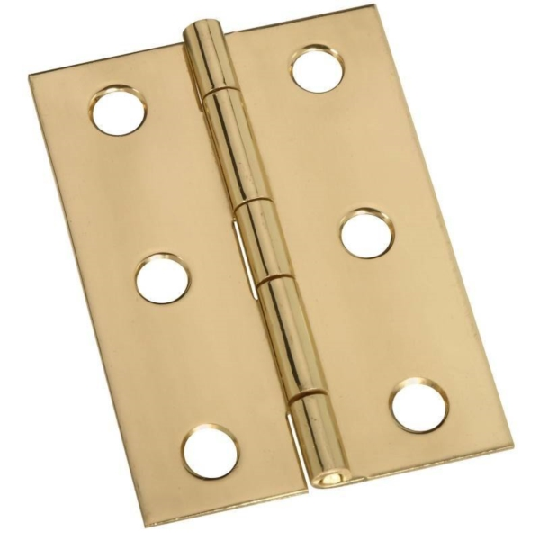Picture of National Hardware N211-391 Decorative Broad Hinge, 2-1/2 in H Door Leaf, 0.05 in Thick Door Leaf, Brass, Solid Brass