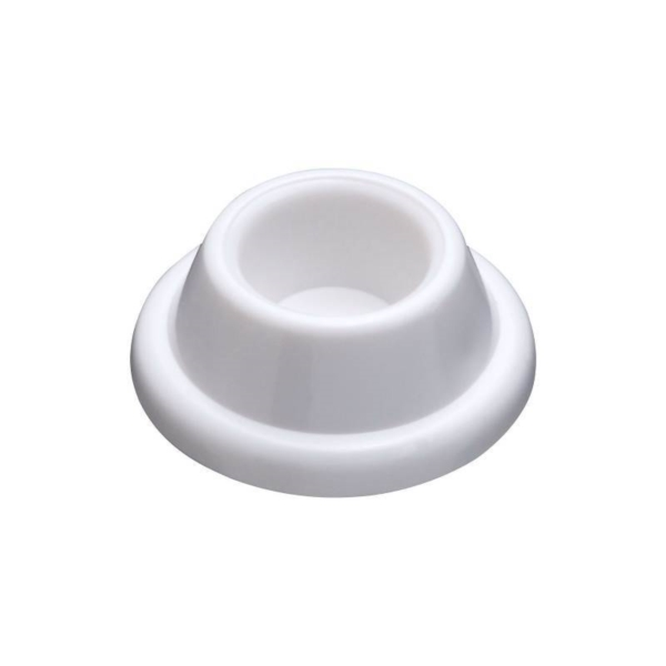 Picture of National Hardware N215-897 Door Stop, 1.9 in Dia Base, 0.72 in Projection, Plastic, White