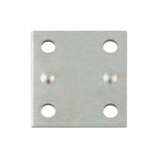 Picture of National Hardware N220-087 Mending Brace, 1-1/2 in L, 1-3/8 in W, 0.07 Gauge, Steel, Zinc, Screw Mounting
