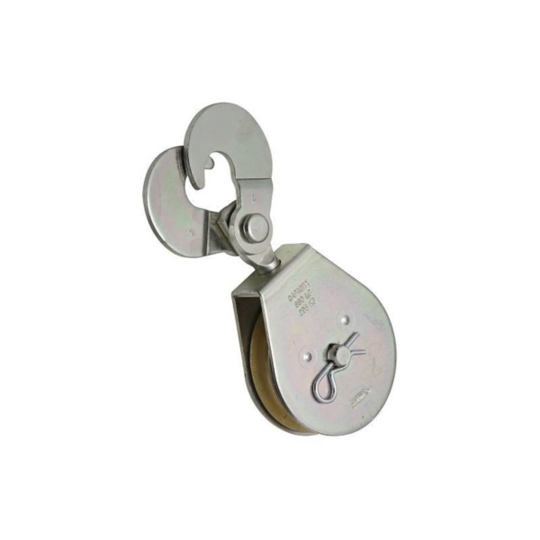 Picture of National Hardware N229-013 Single Pulley, 1/2 in Rope, 650 lb Working Load, 3 in Sheave, Zinc