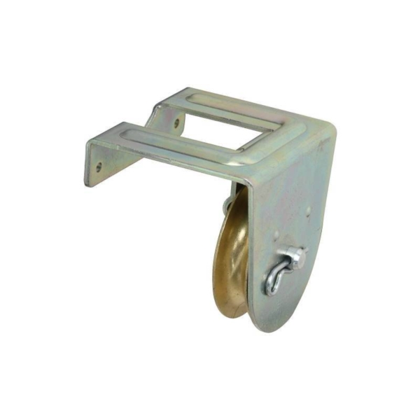 Picture of National Hardware N233-262 Single Pulley, 3/8 in Rope, 100 lb Working Load, 2 in Sheave, Zinc
