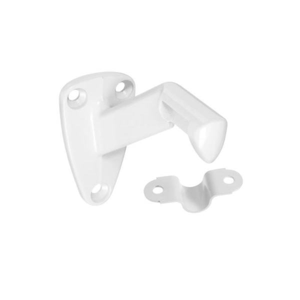 Picture of National Hardware N248-351 Handrail Bracket with Strap, 250 lb, Zinc, White