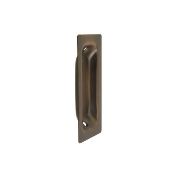 Picture of National Hardware N335-620 Door Pull, 1.37 in W, 0.37 in D, 3-1/4 in H, Steel, Antique Bronze