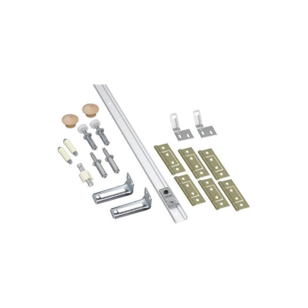 Picture of National Hardware N343-723 Folding Door Hardware Set, 7/8 to 1-3/8 in Thick Door, Steel, Surface Mounting