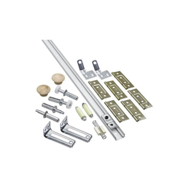 Picture of National Hardware N343-731 Folding Door Hardware Set, 7/8 to 1-3/8 in Thick Door, Steel, Surface Mounting