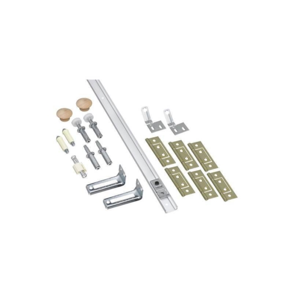 Picture of National Hardware N343-749 Folding Door Hardware Set, 7/8 to 1-3/8 in Thick Door, Steel, Surface Mounting