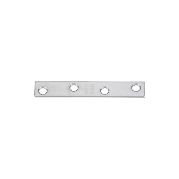 Picture of National Hardware N348-375 Mending Brace, 4 in L, 5/8 in W, Stainless Steel, Screw Mounting