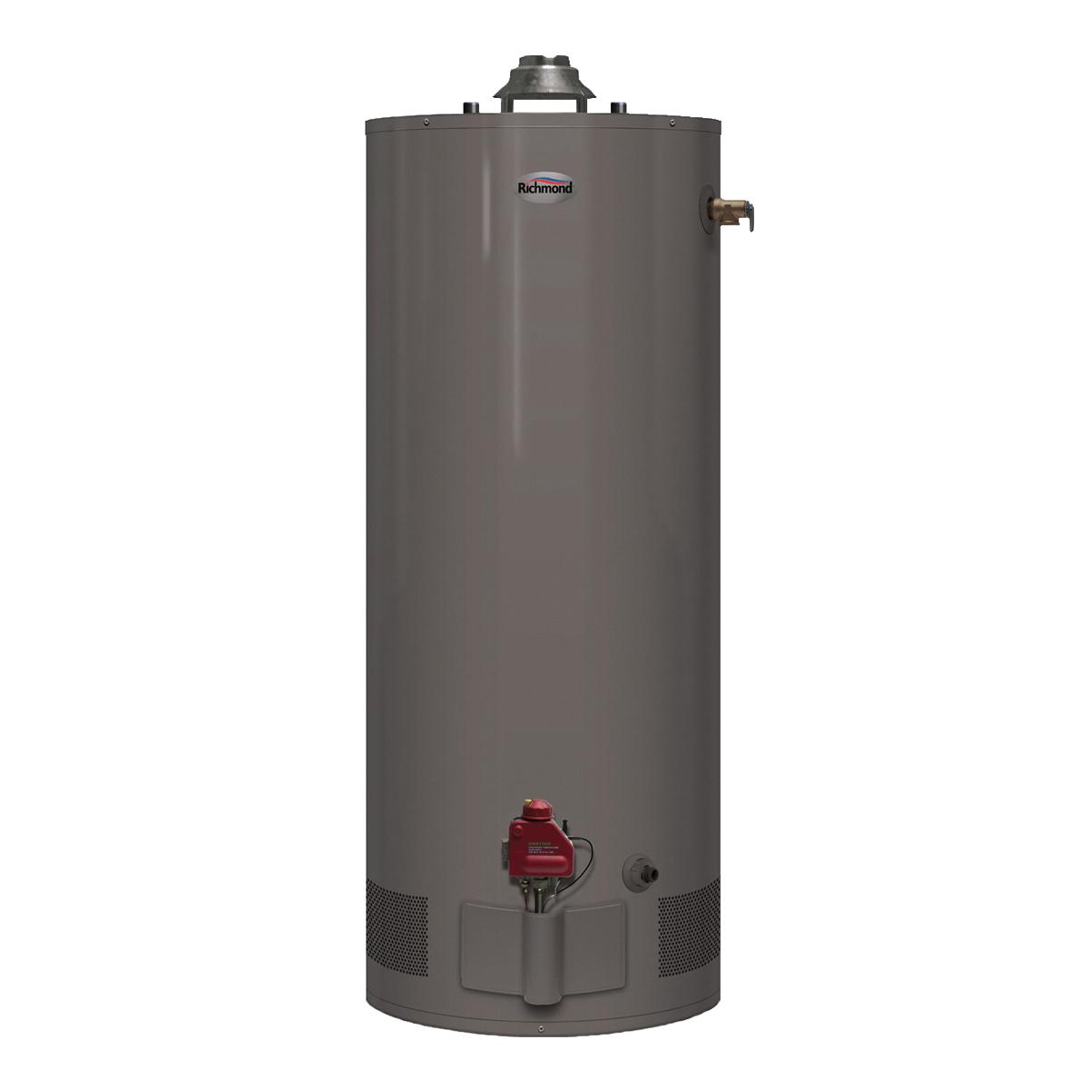 Picture of Richmond Essential 6G40S-31PF3 Gas Water Heater, Liquid Propane, 40 gal Tank, 65 gph, 31000 Btu/hr BTU