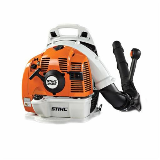 Picture of STIHL BR 350 Backpack Blower, Gas, 63.3 cc Engine Displacement, 2-Stroke Engine, 436 cfm Air, Gray/Orange