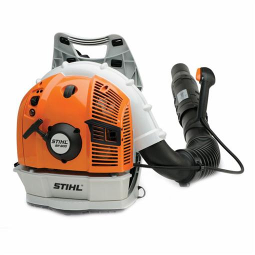 Picture of STIHL BR 600 Backpack Blower, Gas, 64.8 cc Engine Displacement, 2-Stroke Engine, 677 cfm Air, Gray/Orange