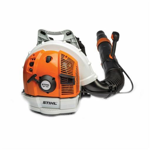 Picture of STIHL BR 700 Backpack Blower, Gas, 64.8 cc Engine Displacement, 2-Stroke Engine, 912 cfm Air, Gray/Orange
