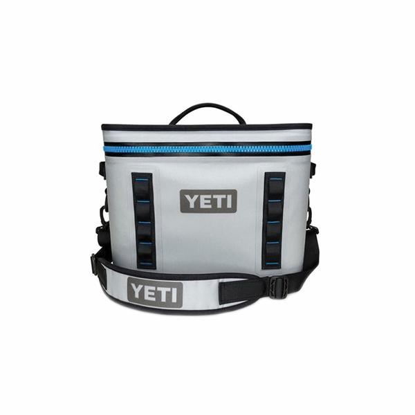 Picture of YETI Hopper Flip YHOPF18G Soft Bag Cooler, 20 Cans Capacity, Fog Gray/Tahoe Blue