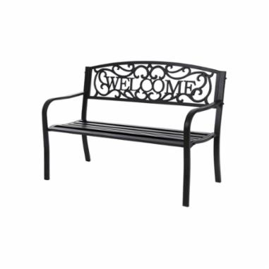 Picture of Seasonal Trends XG-204N Park Bench, Metal Seat, Metal Frame