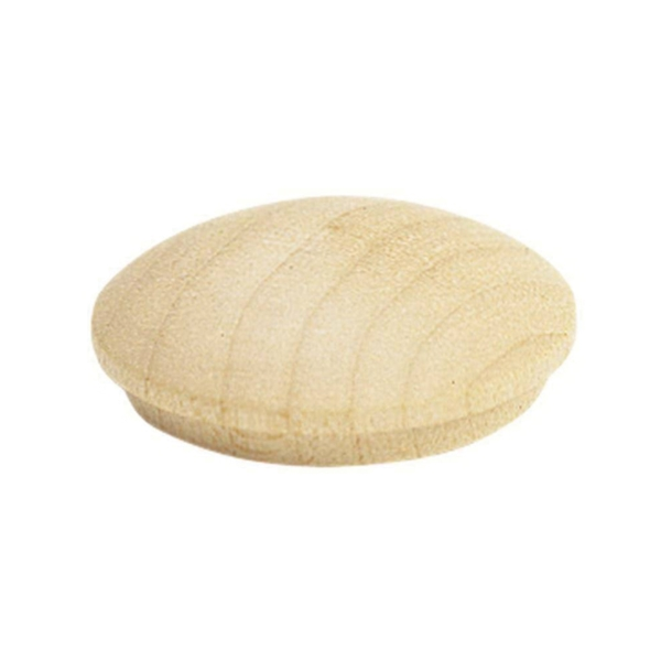 Picture of Waddell 8400.75 DP-10 Screw Hole Button, 4 in L, Birchwood, Round Head
