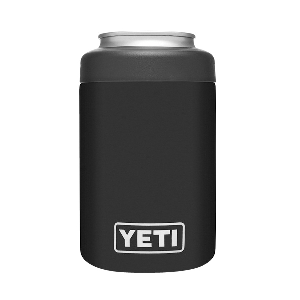 Picture of YETI Rambler 21070090063 Colster Can Insulator, 3 in Dia x 4-3/4 in H, 12 oz Can/Bottle, 18/8 Stainless Steel, Black