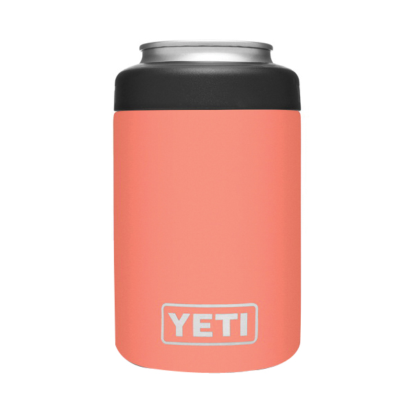 Picture of YETI Rambler 21070090076 Colster Can Insulator, 3 in Dia x 4-3/4 in H, 12 oz Can/Bottle, 18/8 Stainless Steel, Coral