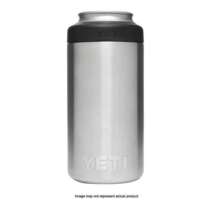 Picture of YETI Rambler 21070090093 Colster Can Insulator, 3 in Dia x 6 in H, 16 oz Can/Bottle, 18/8 Stainless Steel