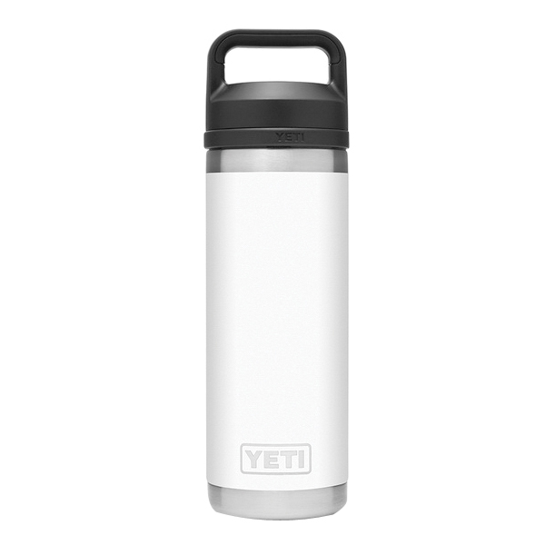 Picture of YETI Rambler 21071060020 Bottle With Chug Cap, 18 oz Capacity, 18/8 Stainless Steel, White