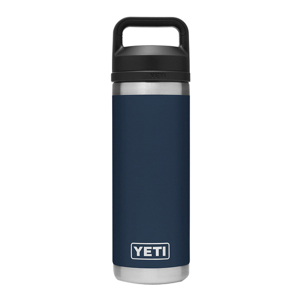 Picture of YETI Rambler 21071060021 Bottle With Chug Cap, 18 oz Capacity, 18/8 Stainless Steel, Navy
