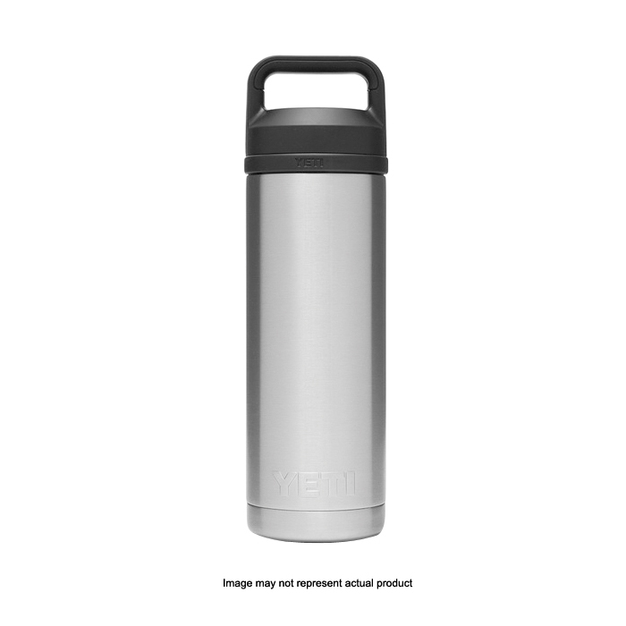 Picture of YETI Rambler 21071060022 Bottle With Chug Cap, 18 oz Capacity, 18/8 Stainless Steel, Coral