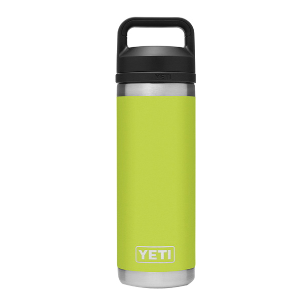 Picture of YETI Rambler 21071060023 Bottle With Chug Cap, 18 oz Capacity, 18/8 Stainless Steel, Chartreuse