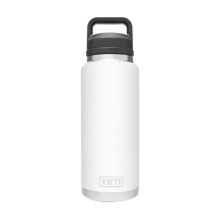 Picture of YETI Rambler 21071070016 Bottle With Chug Cap, 36 oz Capacity, 18/8 Stainless Steel, White