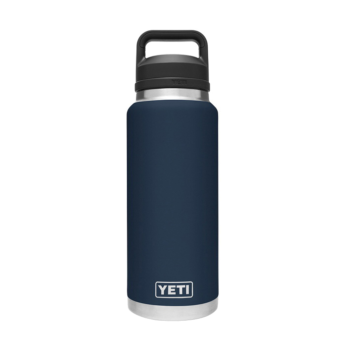 Picture of YETI Rambler 21071070017 Bottle With Chug Cap, 36 oz Capacity, 18/8 Stainless Steel, Navy