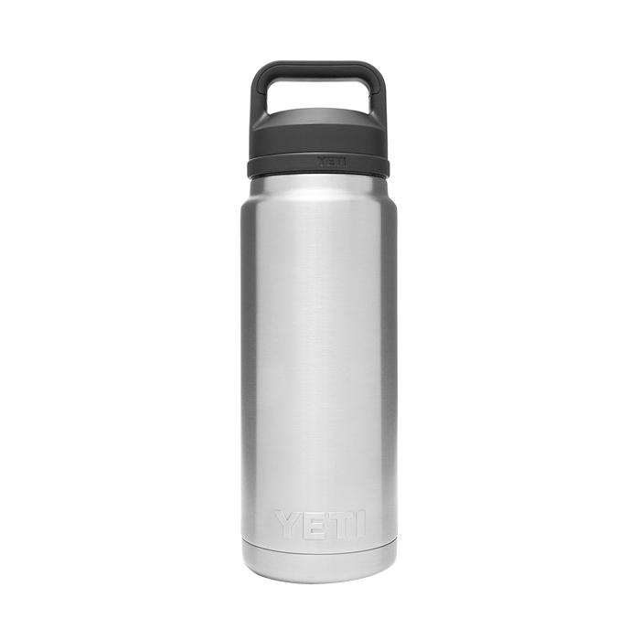Picture of YETI Rambler 21071200017 Bottle With Chug Cap, 26 oz Capacity, 18/8 Stainless Steel, Stainless Steel
