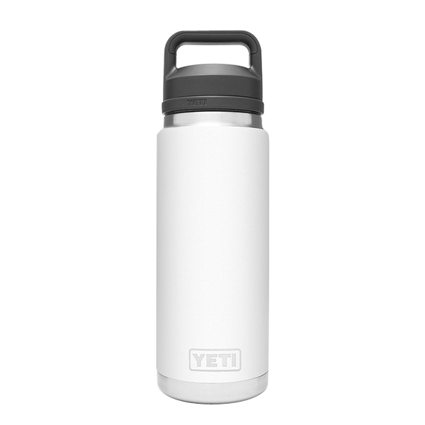 Picture of YETI Rambler 21071200020 Bottle With Chug Cap, 26 oz Capacity, 18/8 Stainless Steel, White