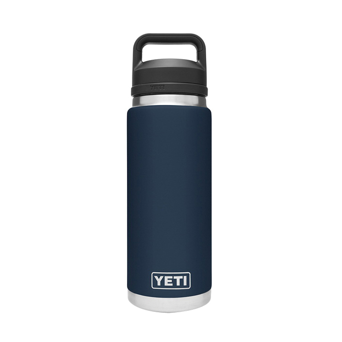 Picture of YETI Rambler 21071200021 Bottle With Chug Cap, 26 oz Capacity, 18/8 Stainless Steel, Navy