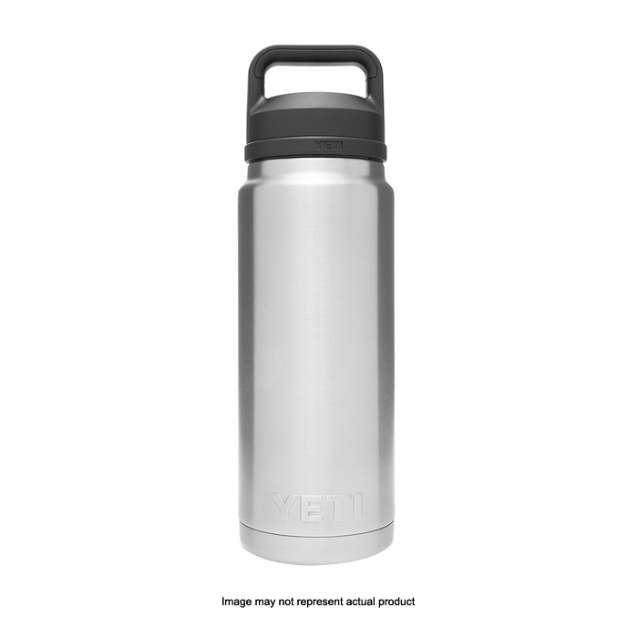 Picture of YETI Rambler 21071200022 Bottle With Chug Cap, 26 oz Capacity, 18/8 Stainless Steel, Coral