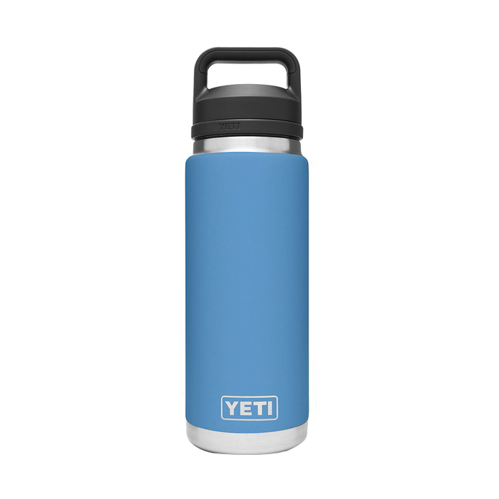 Picture of YETI Rambler 21071200024 Bottle With Chug Cap, 26 oz Capacity, 18/8 Stainless Steel, Pacific Blue
